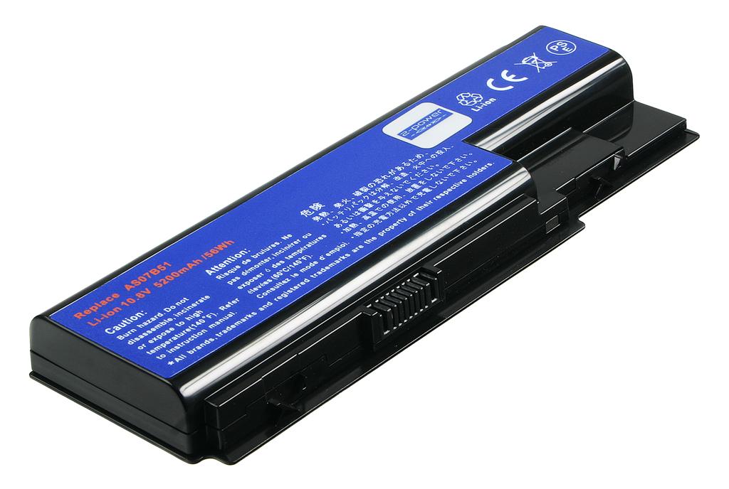 produkt-foto van 'Laptop Accu 10.8v - 5.200mah, 55wh, 2-power, zwart'