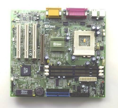 produkt-foto van 'A-Open MX-34 VIA moederbord (133 Mhz)'