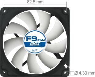 produkt-foto van 'Arctic Case Fan - 92x92x25mm, 4-pins, pwm, pst'