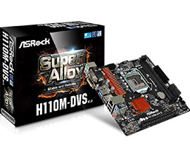 produkt-foto van 'Intel Core-i7-7700-3,6g, cpu-fan, ddr4-8gb & Asrock h110m-dvs'