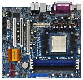 produkt-foto van 'Asrock 939n68pv moederbord (socket 939, geluid, vga, lan)'