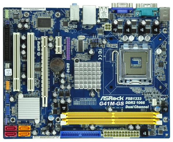 produkt-foto van 'asRock g41m-gs moederbord (vga, s775, g41+ich7 chipset)'
