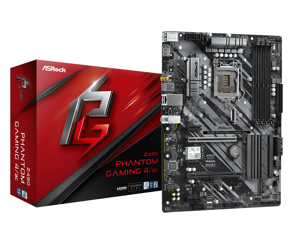 foto van z490 phantom gaming 4/ac