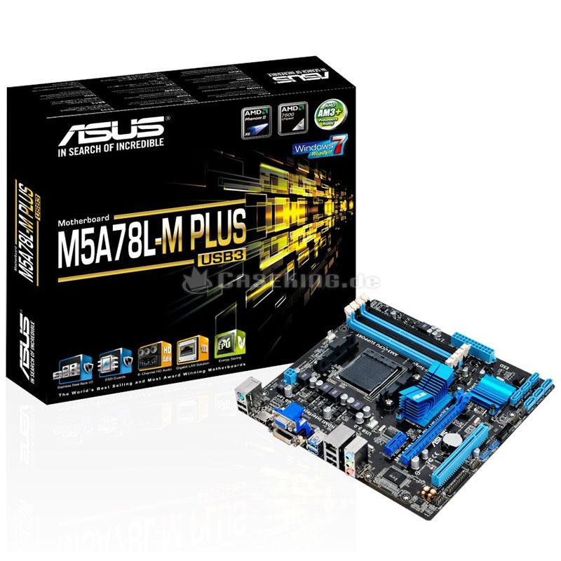 produkt-foto van 'Asus m5a78l-m plus/usb3 - socket am3, 4x ddr3, vga+dvi+hdmi, glan, 4x sata,'