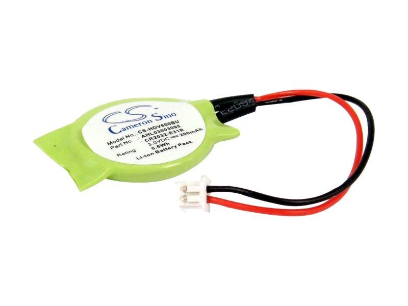 produkt-foto van 'cr2032 - Knoopcel batterij incl. draadjes & plug (voor o.a. hp dv6137 laptop'