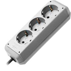 produkt-foto van 'Brennenstuhl Stopcontact - 3x met aarde + snoer 5m, zilver'