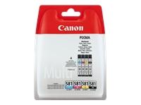 produkt-foto van 'Canon cli-581-4-pack - zwart, cyaan, magenta & geel, ong. 1.105 pagina's'