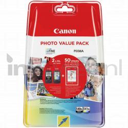 produkt-foto van 'Canon pg-540xl-bk + cl-541xl-c - 50 vel 10x15cm, zwart+kleur, ong. 1000 pagina''