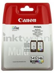 produkt-foto van 'Canon pg-545xl + cl-546xl - zwart + kleur, samen 28ml, ong. 700 pagina's'