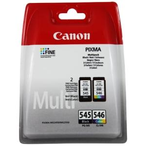 produkt-foto van 'Canon pg-545 + cl-546 - zwart + kleur, samen 16ml, ong. 360 pagina's'