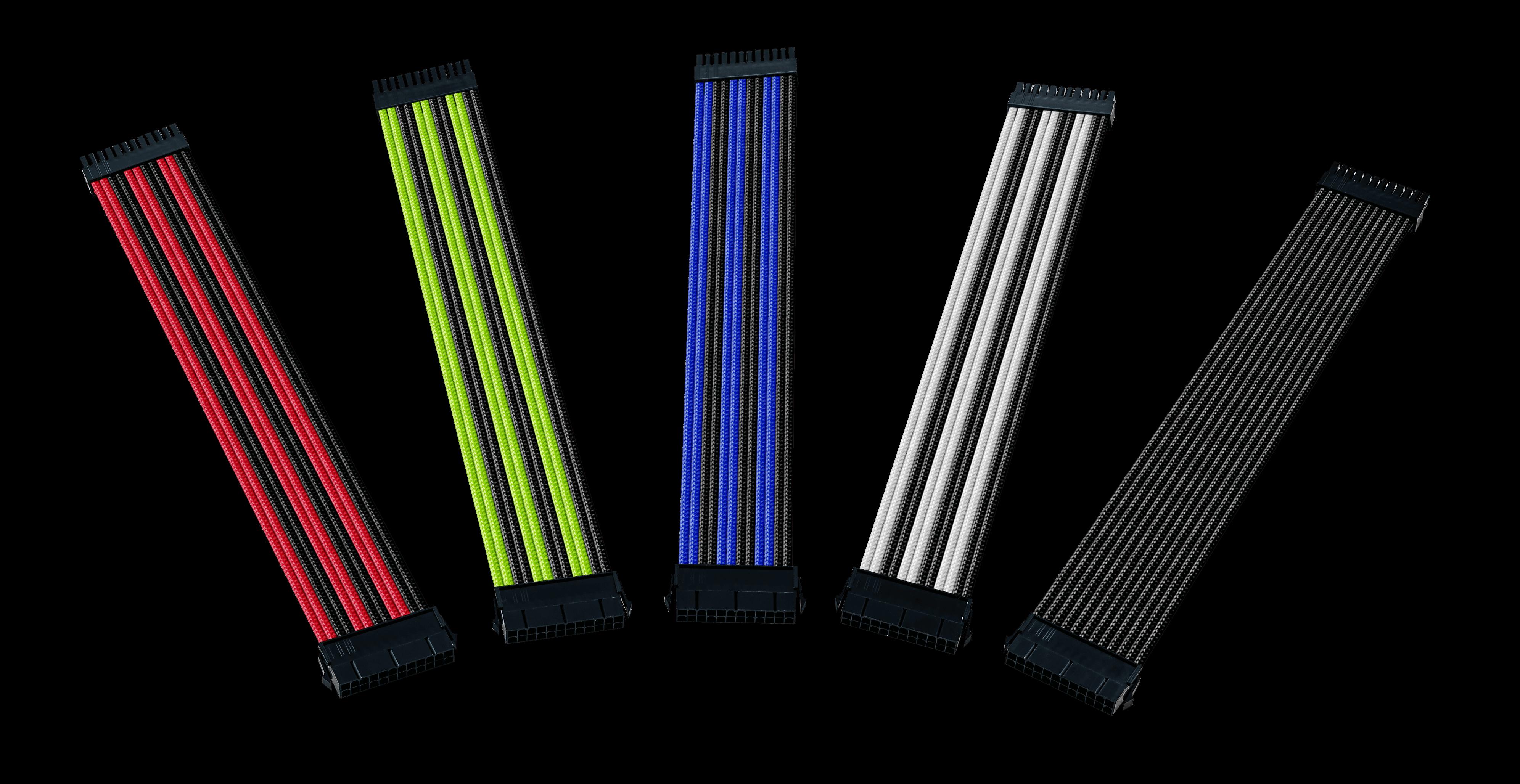 produkt-foto van 'Voedingskabel - verleng, moederbord 24-pin voeding, 30cm, divere kleuren'
