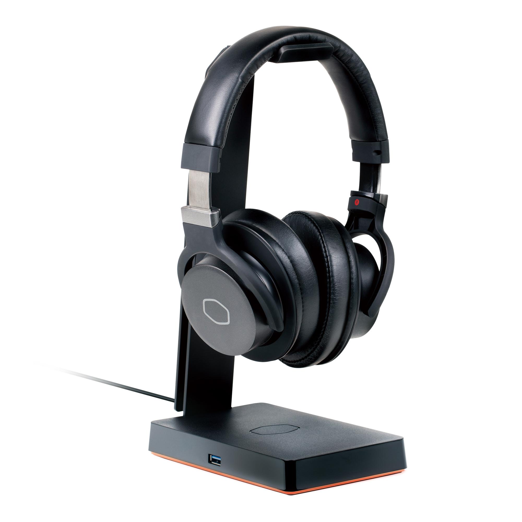 produkt-foto van 'Cooler Master Draadloze Koptelefoon - gs750, zwart, Qi draadloos opladen'