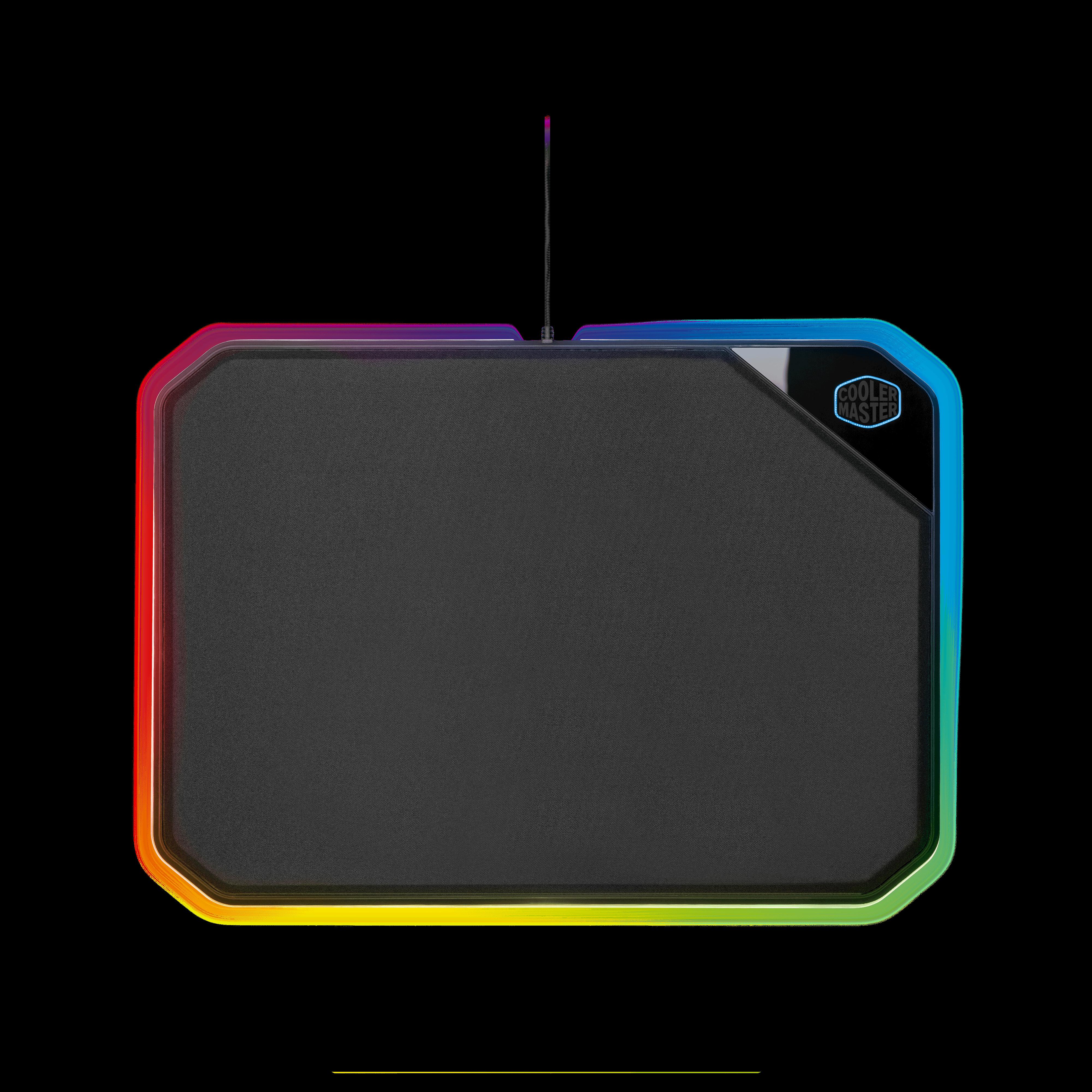 produkt-foto van 'Muismat - gaming, zwart, gekleurde rand, groot formaat'
