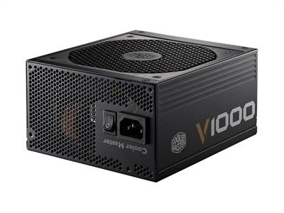 produkt-foto van 'Cooler Master voeding - 1000 Watt, Vanguard v1000-80+ Gold, fan 12cm, 20/24 pi'