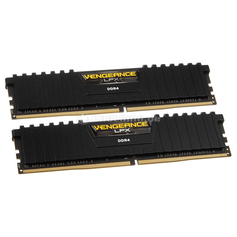 produkt-foto van 'Dimm 16gb - ddr4-3000, pc4-24000, non-ecc, cl15, corsair, zwart, kit 2x 8gb'