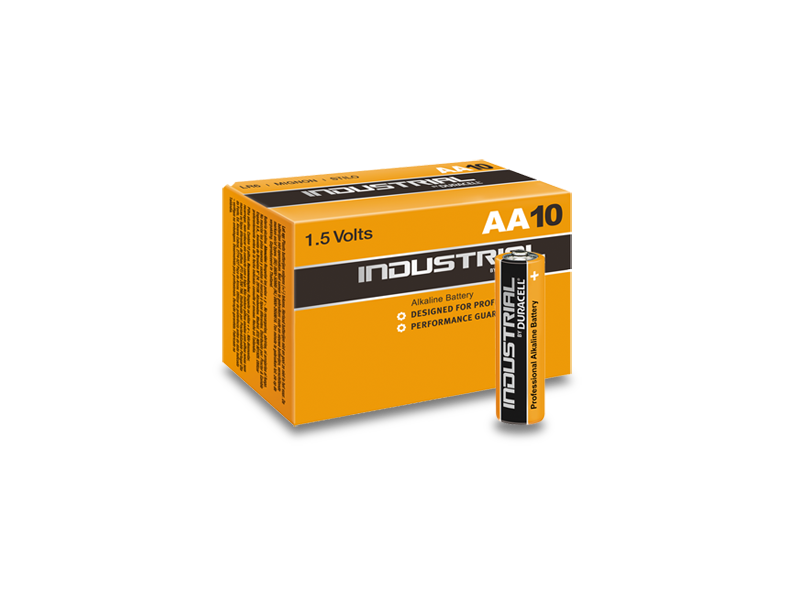 produkt-foto van 'Duracell Batterij - type AA, Industriele Kwaliteit, per 10 stuks'