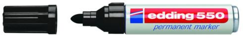 produkt-foto van 'Edding 550 stift - zwart, permanent, rond, 1,5-3mm'