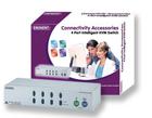 produkt-foto van 'Eminent KVM-switchbox (4-poorts incl kabels)'