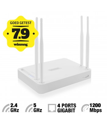 produkt-foto van 'Eminent Wireless Router em4510 - 4x gigabit, wireless, dual-band, ac-1200'