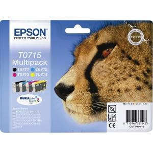 produkt-foto van 'Epson t0715 - set van 4-patronen, 1x zwart, 3x kleur'