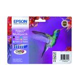 produkt-foto van 'Epson t0807 inkt-patroon - multi-pack, 6 patronen'