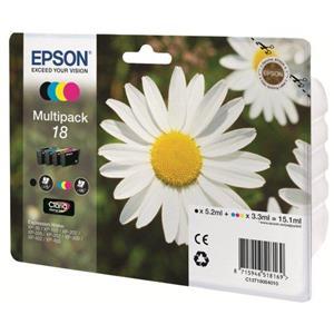 produkt-foto van 'Epson 18 - t1806 multi-pack, zwart, cyan, magenta & geel'