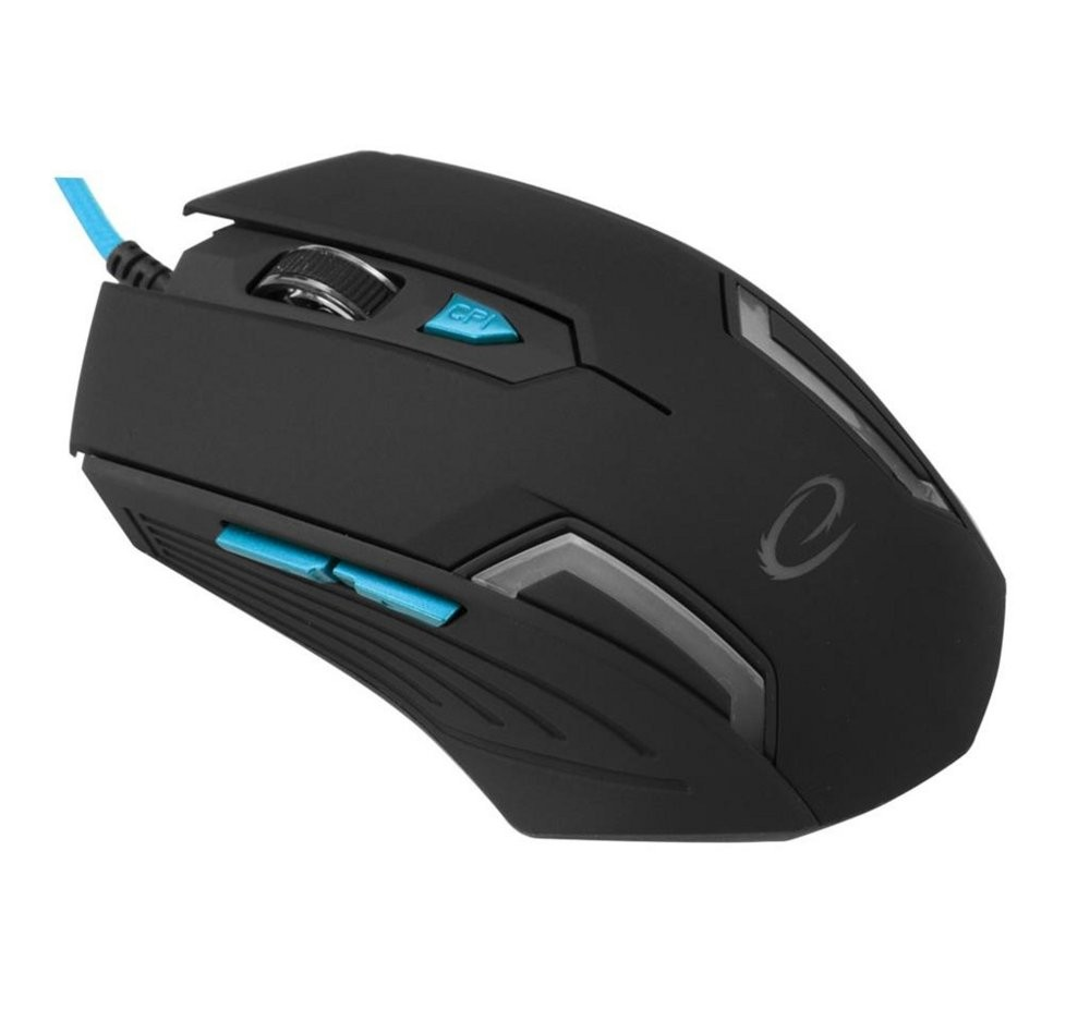 produkt-foto van 'Esperanza Gaming muis - mx205, Fighter, 6d gaming, blauw, bedraad'