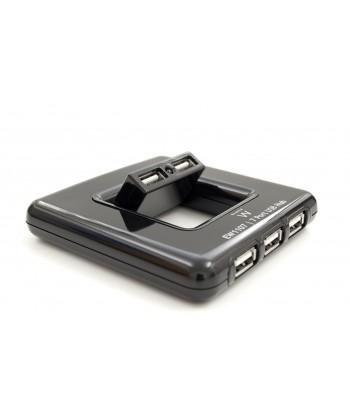 produkt-foto van 'Ewent USB 2.0 HUB - 7-poorts, zwart, incl. voeding'