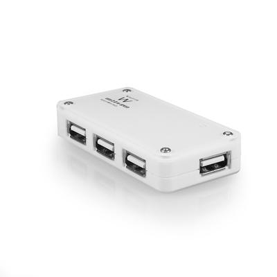 produkt-foto van 'Ewent USB 2.0 HUB - 4-poorts, wit, incl. voeding'