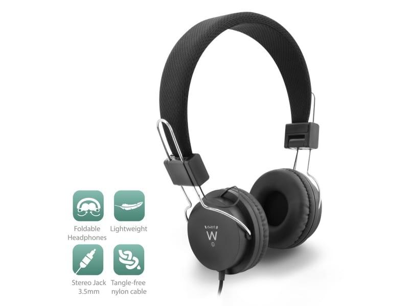 produkt-foto van 'Ewent Kop-telefoon - on-ear, opvouwbaar, zwart'