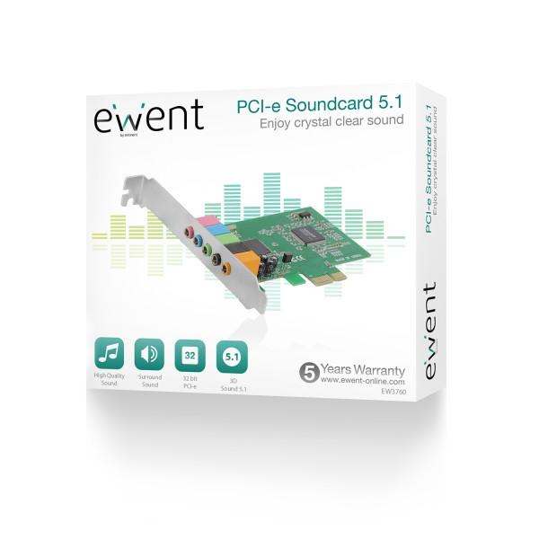 produkt-foto van 'Ewent Geluidskaart 5.1 - pci-e'