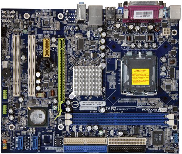 produkt-foto van 'Foxconn 662mx (s775, vga, lan, 2x sata2, 2x ddr2, pci-16x)'