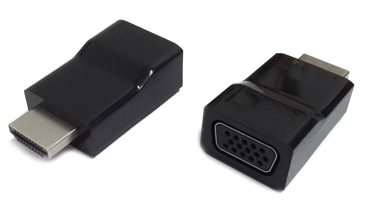 produkt-foto van 'Verloopadaptor - HDMI (m) naar VGA (v), passief, gembird'