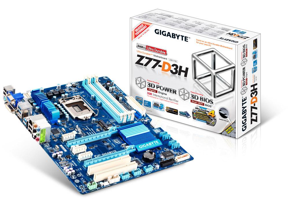 produkt-foto van 'Gigabyte ga-z77-d3h (lga1155, 4x ddr3, 4x sata, glan)'