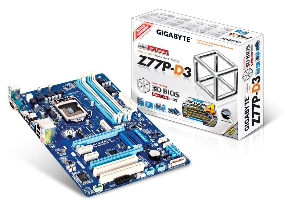 produkt-foto van 'Gigabyte ga-z77p-d3 (lga1155, 4x ddr3, 4x sata, glan)'