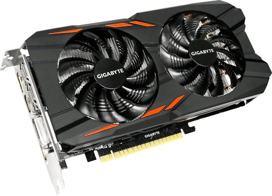 produkt-foto van 'Gigabyte Geforce video-kaart - gv-n105twf2oc-4gd, TI versie, 4gb, pci-e 3'