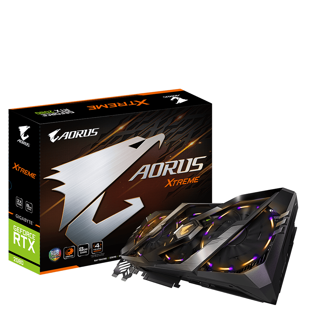 produkt-foto van 'Gigabyte Geforce video-kaart - gv-n2080aorusx-8gc, 8gb, dvi/hdmi/dp'