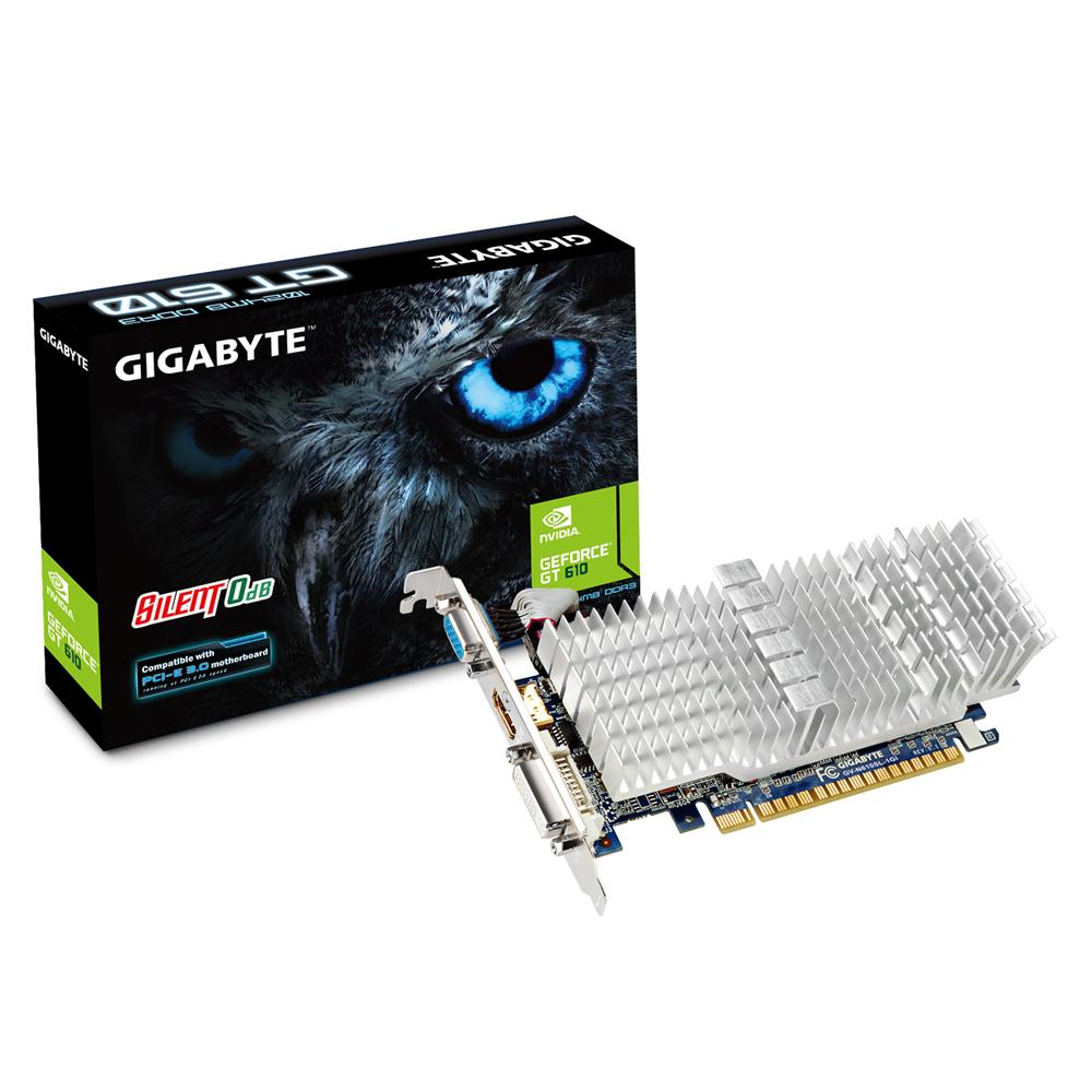 produkt-foto van 'Gigabyte Geforce video-kaart - gv-n610sl-1gi, 1gb - pci-e, vga, dvi & hdmi - lp'