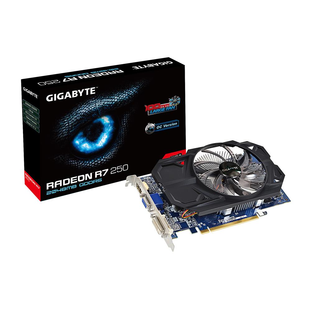 produkt-foto van 'Gigabyte Radeon r7-250 - 2gb (pci-e - vga, dvi & hdmi)'