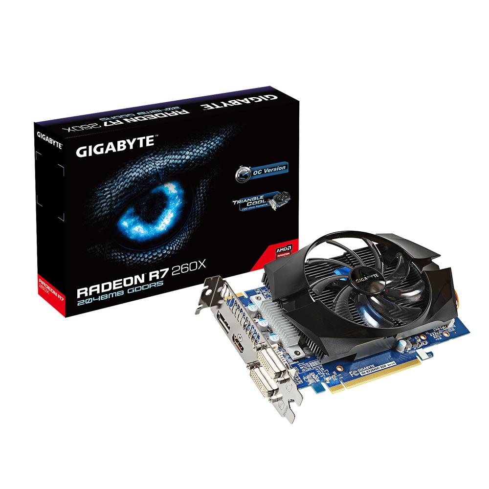 produkt-foto van 'Gigabyte Radeon r7-260x - 2gb (pci-e - dvi-i, dvi-d & hdmi)'