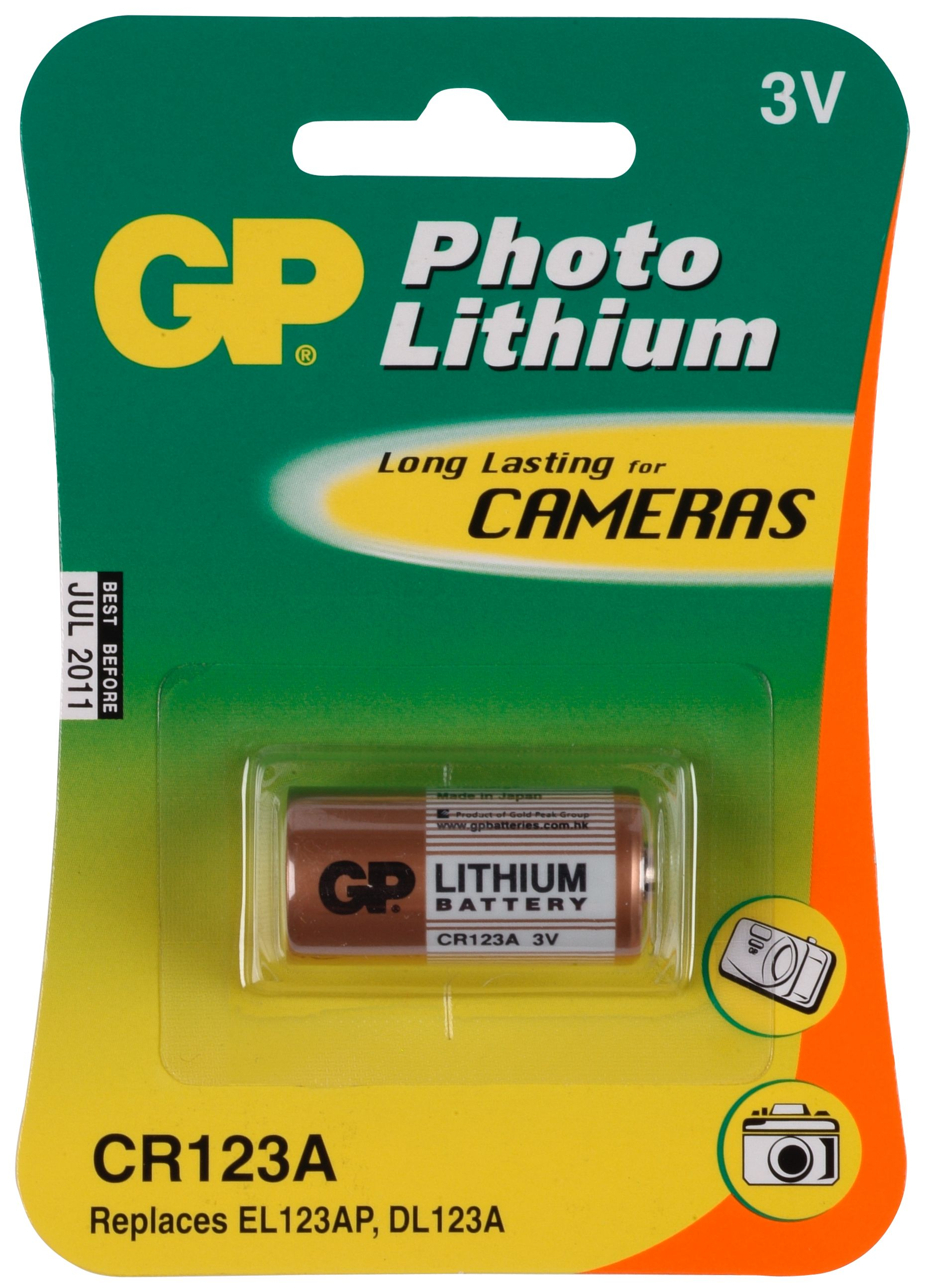 produkt-foto van 'gp546 - Knoopcel batterij cr123a'