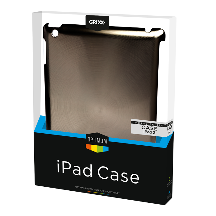 produkt-foto van 'Grixx Optimum Case iPad 2/3/4, metal-look'