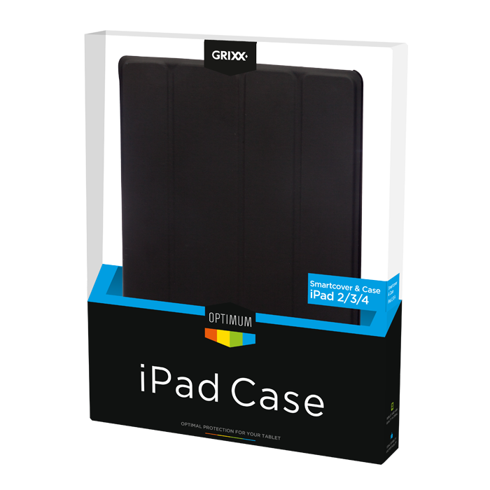 produkt-foto van 'Grixx Optimum Smart Cover iPad 2/3/4, leer - zwart'