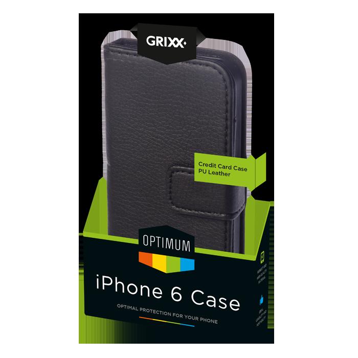 produkt-foto van 'Grixx Optimum Case iPhone 6 credit-card - zwart'