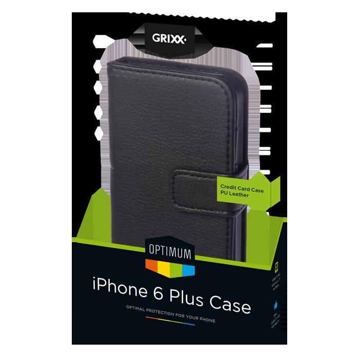 produkt-foto van 'Grixx Optimum Case iPhone 6plus credit-card - wit'