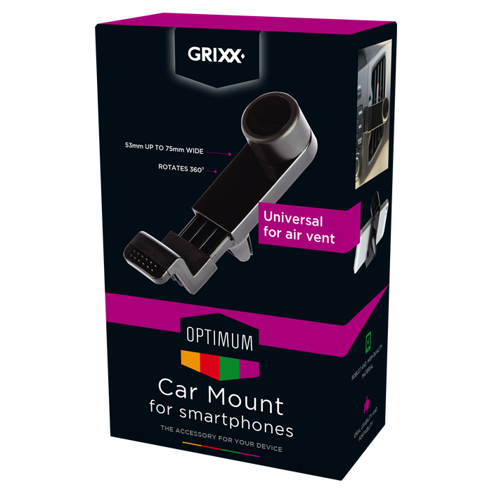 produkt-foto van 'Grixx Optimum Car Mount voor Smart Phone'