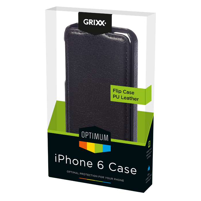 produkt-foto van 'Grixx Optimum Case iPhone 6 flip - zwart'
