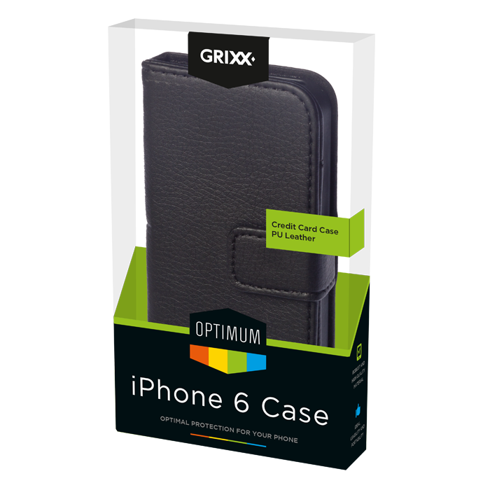produkt-foto van 'Grixx Optimum Case iPhone 6plus credit-card, zwart'