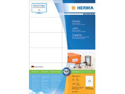 produkt-foto van 'Herma etiketten - 105x48mm, 12 etiketten per a4 pagina, wit'