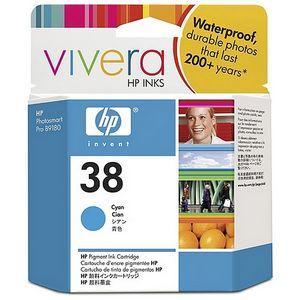 produkt-foto van 'HP 38 inkt-patroon - c9415a, cyaan, 27ml'